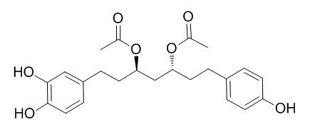 1-(3,4-ジヒドロキシフェニル)-7-(4-ヒドロキシフェニル)ヘプタン-3,5-ジイル ジアセタート