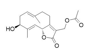 13-Acetoxy-3beta-hydroxygermacra-1(10)E,4E,7(11)-trien-12,6alpha-olide