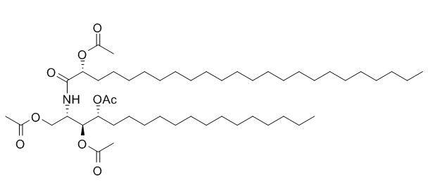 2-2'-(Hydroxytetracosanoylamino)-octadecane-1,3,4-triol tetraacetate