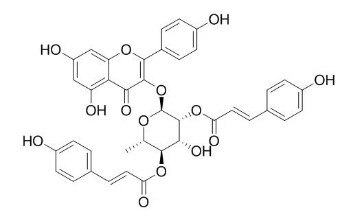 2'',4''-Di-O-(E-p-coumaroyl)afzelin