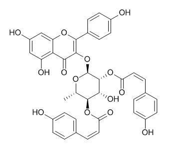 2'',4''-Di-O-(Z-p-coumaroyl)afzelin