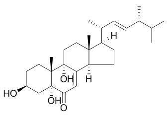 3,5,9-三羟基麦角甾-7,22-二烯-6-酮