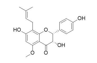 (2R,3S)-3,7,4'-Trihydroxy-5-methoxy-8-prenylflavanone