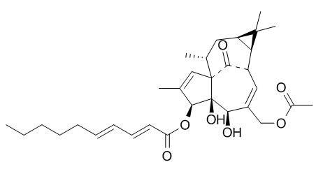 3-O-(2'E,4'E-癸二烯酰基)-20-O-乙酰巨大戟二萜醇