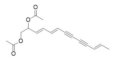 (3E,5E,11E)-tridecatriene-7,9-diyne-1,2-diacetate