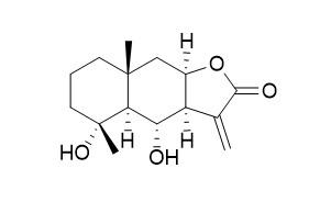 4alpha,6alpha-Dihydroxyeudesm-11(13)-en-12,8beta-olide