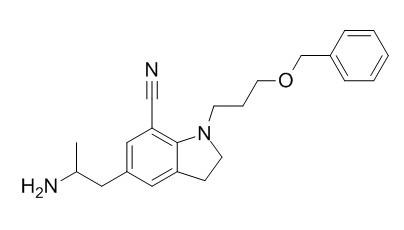 5-[(2R)-2-Aminopropyl]-2,3-dihydro-1-[3-(phenylmethoxy)propyl]-1H-indole-7-carbonitrile