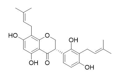 5,7,2',4'-Tetrahydroxy-8,3'-di(gamma,gamma-dimethylallyl)-isoflavanone