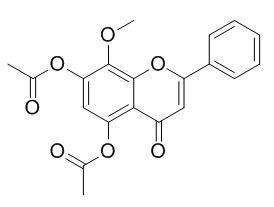 5,7-二羟基-8-甲氧基黄酮二乙酸酯