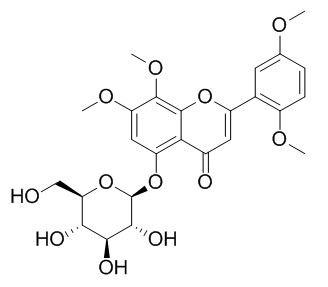 5-Hydroxy-7,8,2',5'-tetramethoxyflavone 5-O-glucoside