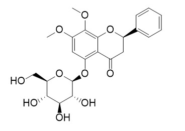 5-Hydroxy-7,8-dimethoxy (2R)-flavanone-5-O-beta-D-glucopyranoside