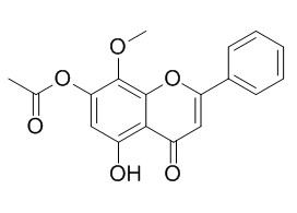 5-Hydroxy-7-acetoxy-8-methoxyflavone