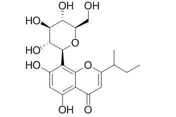 8-Glucosyl-5,7-dihydroxy-2-(1-methylpropyl)chromone