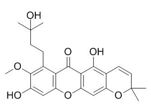 9-Hydroxycalabaxanthone hydrate