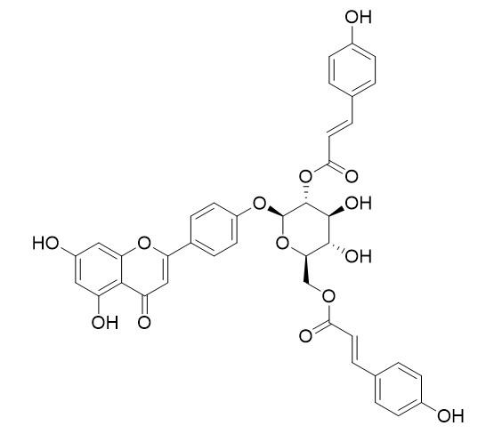 Apigenin 4'-O-(2'',6''-di-O-E-p-coumaroyl)glucoside