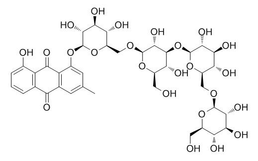 Chrysophanol 1-O-beta-tetraglucoside