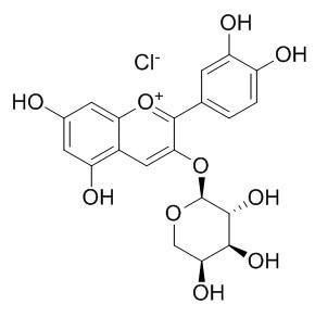 氯化矢车菊素-3-O-阿拉伯糖苷