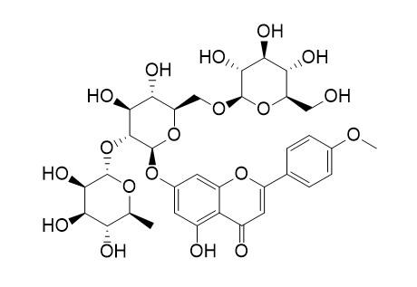 Fortunellin-6''-beta-D-glucopyranoside (Acacetin-7-O-[2''-O-rhamnosyl-6''-O-glucosyl]-glucoside)