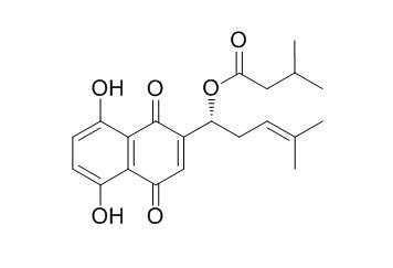 异戊酰紫草素