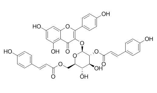 Kaempferol-3-O-(2',6'-di-O-trans-p-coumaroyl)-beta-D-glucopyranoside