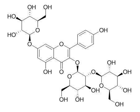 Kaempferol 3-sophoroside-7-glucoside