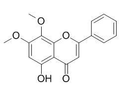 苏荠宁黄酮; 5-羟基-7,8-二甲氧基黄酮