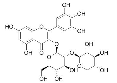Myricetin 3-O-beta-D-xylopyranosyl(1-2)-beta-D-glucopyranoside