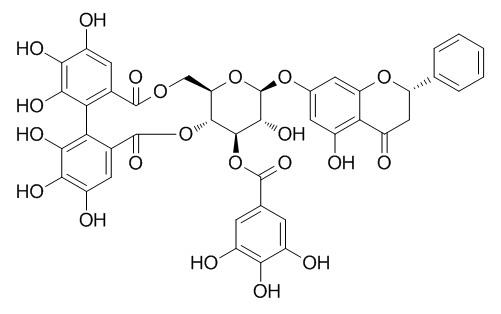 Pinocembrin 7-O-(3''-galloyl-4'',6''-(S)-hexahydroxydiphenoyl)-beta-D-glucose