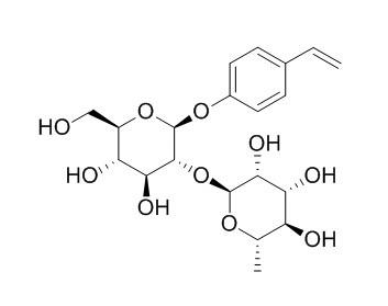 4-乙烯基苯基2-O-(6-去氧-ALPHA-L-吡喃甘露糖)-BETA-D-吡喃葡萄糖苷