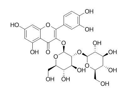 白麻苷,槲皮素-3-O-槐二糖苷