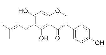 5,7,4'三羟基-6-异戊烯基异黄酮